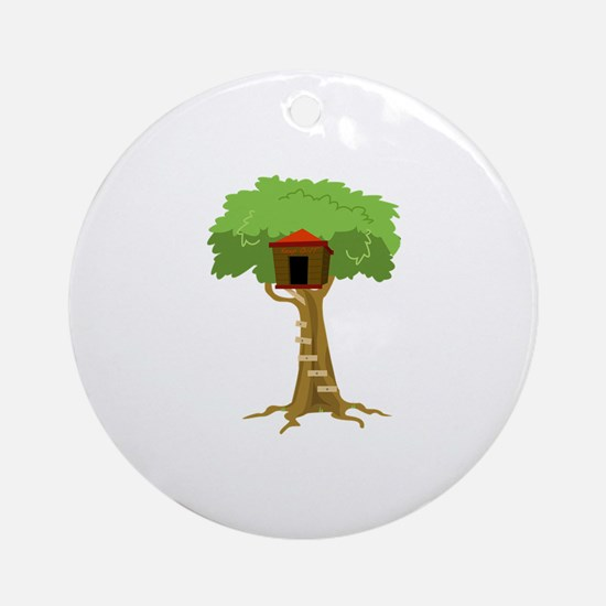 Tree House Ornament (Round)
