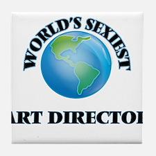 World's Sexiest Art Director Tile Coaster