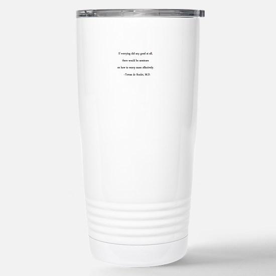 Worrying Centered Stainless Steel Travel Mug