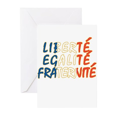 Liberte Egalite Fraternite Greeting Cards (Package