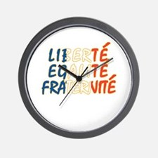 Liberte Egalite Fraternite Wall Clock