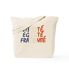 Liberte Egalite Fraternite Tote Bag