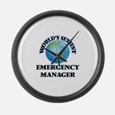 World's Sexiest Emergency Manager Large Wall Clock