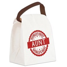 Cute I love my auntie Canvas Lunch Bag