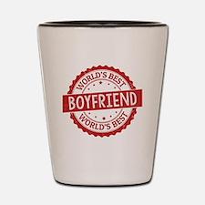 Cute I love my boyfriend Shot Glass
