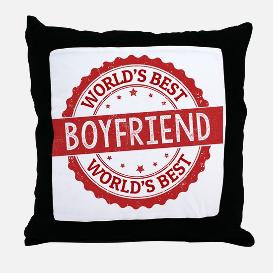 Cute Boyfriend Throw Pillow