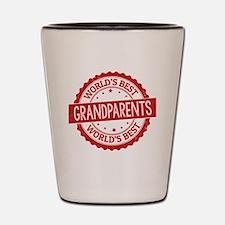 Cute Worlds best grandpa Shot Glass