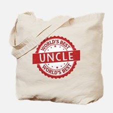 Cute Worlds best uncle Tote Bag