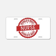 World's Best Nurse Aluminum License Plate