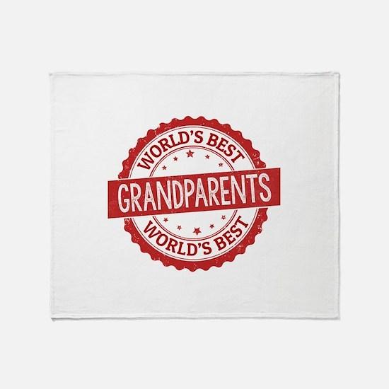 World's Best Grandparents Throw Blanket