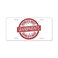World's Best Grandparents Aluminum License Plate