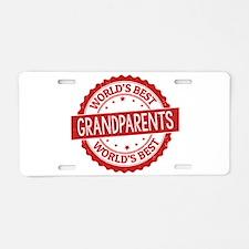 World's Best Grandparents Aluminum License Plate