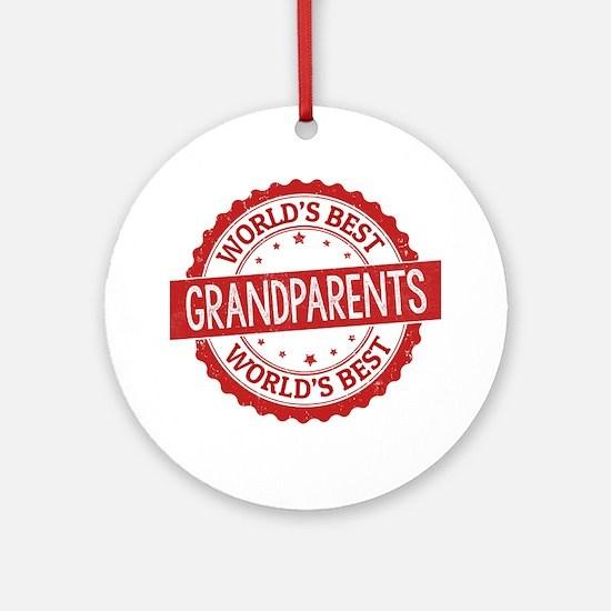 World's Best Grandparents Ornament (Round)