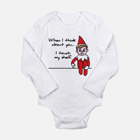 Cute Funny christmas Long Sleeve Infant Bodysuit