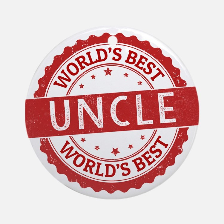 World's Best Uncle Ornament (Round)