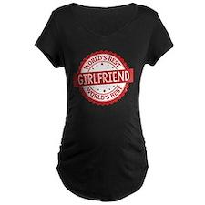 World's Best Girlfriend Maternity T-Shirt