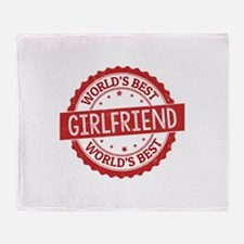 World's Best Girlfriend Throw Blanket