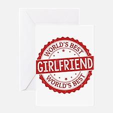 World's Best Girlfriend Greeting Cards