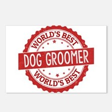 World's Best Dog Groomer Postcards (Package of 8)