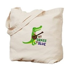 Grass Is Blue Tote Bag