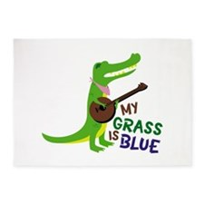 Grass Is Blue 5'x7'Area Rug