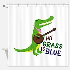 Grass Is Blue Shower Curtain