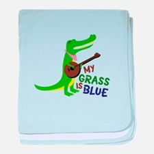 Grass Is Blue baby blanket
