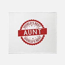 World's Best Aunt Throw Blanket