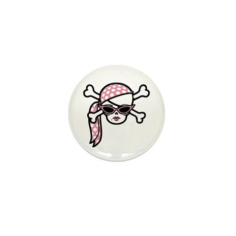 Glamour Pirate Mini Button (10 pack)