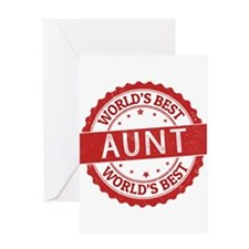World's Best Aunt Greeting Cards