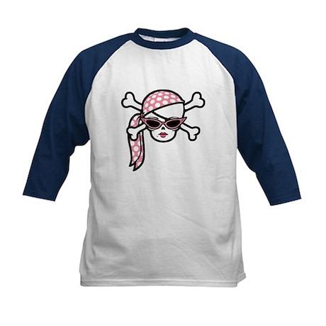 Glamour Pirate Kids Baseball Jersey