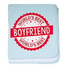 World's Best Boyfriend baby blanket