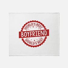 World's Best Boyfriend Throw Blanket