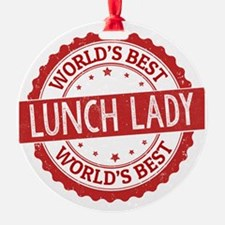 World's Best Lunch Lady Ornament