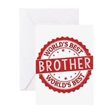World's Best Brother Greeting Cards