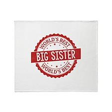 World's Best Big Sister Throw Blanket