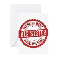 World's Best Big Sister Greeting Cards