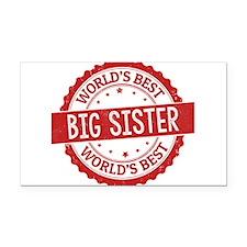 World's Best Big Sister Rectangle Car Magnet