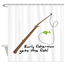 Early Fisherman Shower Curtain