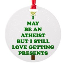 Atheist Holiday Tree Ornament