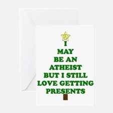 Atheist Holiday Tree Greeting Cards