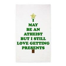 Atheist Holiday Tree 3'x5' Area Rug