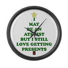 Atheist Holiday Tree Large Wall Clock