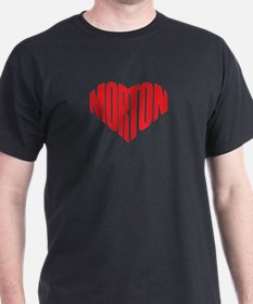 Modern Morton Red Heart T-Shirt