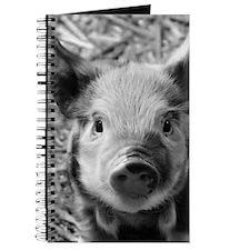 Sweet Piglet,black white Journal