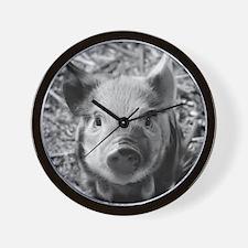 Sweet Piglet,black white Wall Clock