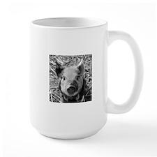 Sweet Piglet,black white Mugs
