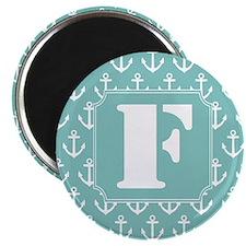 Monogram Letter F nautical Magnet