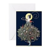 Art deco christmas Greeting Cards (20 Pack)