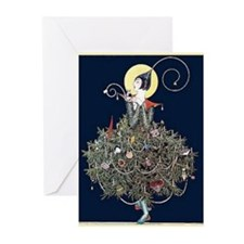 Deco Christmas Tree Greeting Cards (pk Of 20)